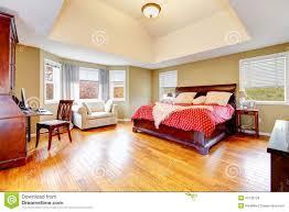 Master Bedroom Interior Large Master Bedroom Interior With Green Alls And Hardwood Floor