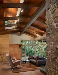open ceiling lighting. Open Beam Ceiling Lighting. Design Living Room Midcentury With Black Leather Armchair Lighting