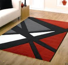 red and black rug rugs modern white area modern red area rugs black
