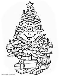 Coloring Pages Stunning Christmas Tree Coloring Sheet Pages