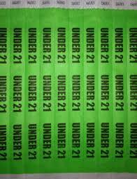 21 Under Paper Wristbands Custom