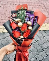 Image result for flower choclate bouquet handmade for valentines