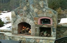 outdoor fireplace pizza oven bination pinteres construction outdoor fireplace with pizza oven plans build