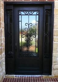 marvelous black single front doors with 21 best wrought iron single doors images on