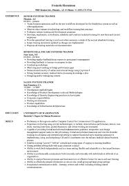 Trainer Resume Sample Systems Trainer Resume Samples Velvet Jobs 36