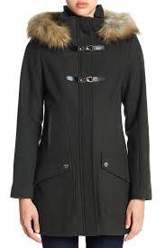 cece by cynthia steffe ella faux fur trim wool blend duffle coat nordstrom rack