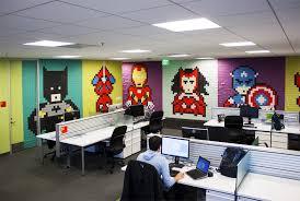 8 024 post its office 8 bit superhero art