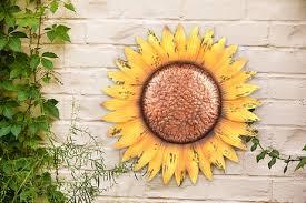 hometrends sunflower metal wall art