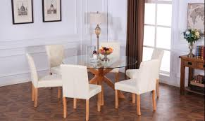 Modern High Back Chairs For Living Room A Pair Of New Design Modern Linen Fabric Dining Chairs Furniture