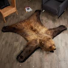 5 foot 7 inch grizzly bear rug leh90173801