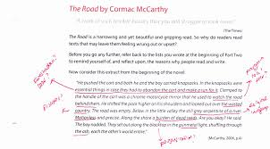close reading moved by breath annotation of extract from the road by mccarthy
