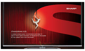 sharp electronics. sharp electronics makes tvs. really, really, great tvs \u2014 that are bigger, brighter and crisper than anything else on the market. sharp c