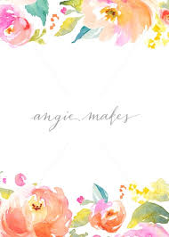 Party Invitation Background Image Download This Too Cute Blank Flower Invitation Perfect To Use As A