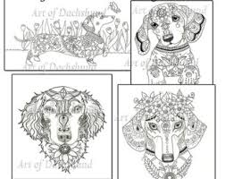 Awesome Dachshund Coloring Pages Artsybarksy