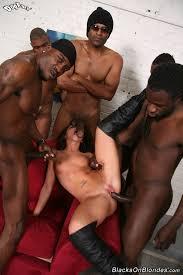 Black gang fucks whites