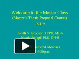 Presentation for Dissertation Proposal Defense Dissertation proposal defense presentations