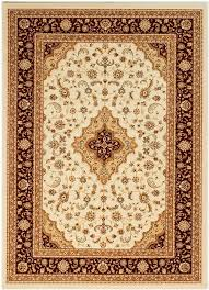 ottoman temple cream red traditional rug