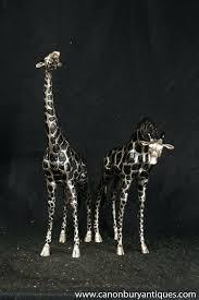 giraffe statues wooden giraffe statue decor