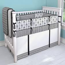 image of white crib bedding
