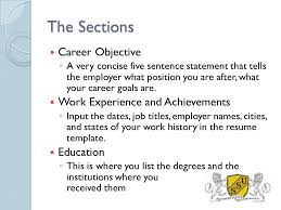 List Of Career Objectives Resume Writing Workshop The Basics Made Easy Southern States