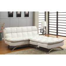 furniture of america modern piece white leatherette futon chair