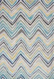 nova nv20 rhythm blue chevron rug free uk delivery