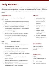 Sample Of Waiter Resume Zromtk Delectable Waiter Resume