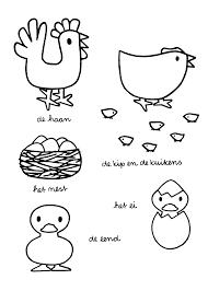 De Haan De Kip En De Kuikens Het Nest Het Ei De Eend Pasen