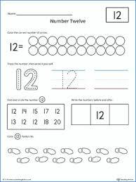 Number Recognition Worksheets Printing Practice For Kindergarten 1 ...