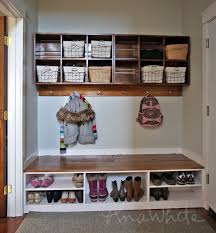 storage bench with shelves. Thanks For All The Lovely Feedback On Our New Mudroom We Shared Plans Cubby Wall Bins Last Week Here Intended Storage Bench With Shelves