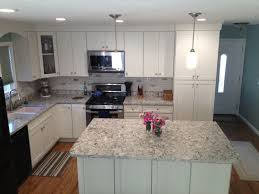 Cabinet Installation Company California Kitchen With White Shaker Cabinets Island