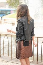 black biker jacket zara midi skirt bocoque black heels outfit style1
