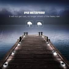 Dock Lighting Ideas Solar Dock Light 8 Pack Jackyled Dock Path Road Long Service