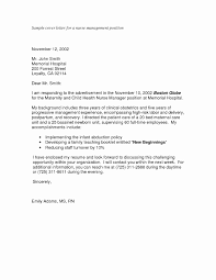 Cover Letter Pdf New Sample Nursing Application Cover Letters