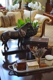 Decorating With Silver Trays Coffee table vignette including silver tray from The Polo House 86