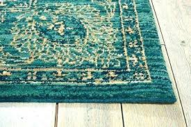 teal brown area rug and cream save on rugs turquoise entry