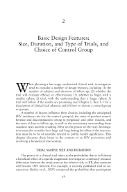 What Is Basic Design Of The Study 2 Basic Design Features Size Duration And Type Of Trials