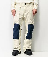 Burton Southside Almond Milk Blue 10k Snowboard Pants