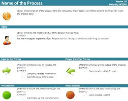 business process template free download business process quick reference card template