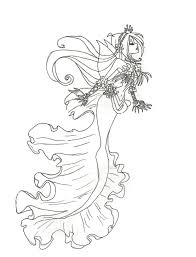 Small Picture Coloring Pages Draw Mermaids Winx Club Mermaid Flora Page By