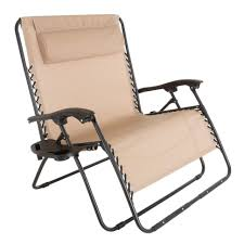 livingroom remarkable pure garden zero beige metal reclining lawn chair m150117 chairs home depot costco