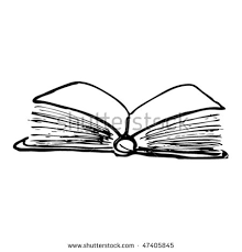drawing of an open book