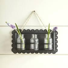 tin hanging decor wall vase pocket vases birch lane