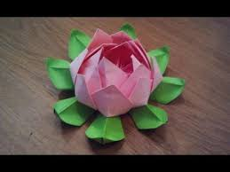 How To Make Big Lotus Flower From Paper How To Make An Origami Lotus Flower Youtube