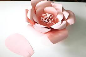 diy paper roses template this template is perfect for creating giant flowers