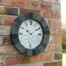 outside in stonegate wall clock thermometer 14