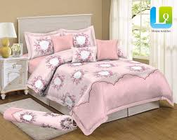 cadar set selimut 5in1 bunga comforter tebal queen king size