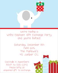 white elephant gift invitation. Plain Elephant Inside White Elephant Gift Invitation P