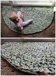 how to crochet a quick and easy half circle rug