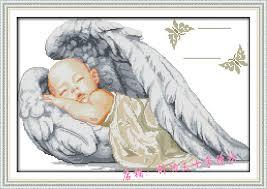 Angel Cross Stitch Patterns Extraordinary NeedleworkDMC Cross StitchSet For Embroidery Kit Baby Angel Birth